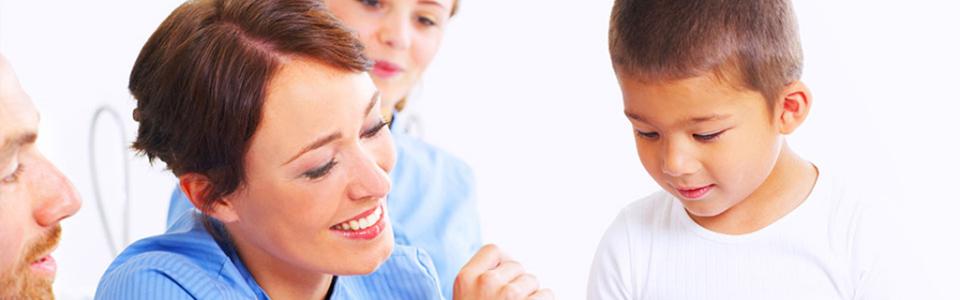 Nurse with Child Patient